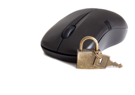 cyber defence: Online security Stock Photo