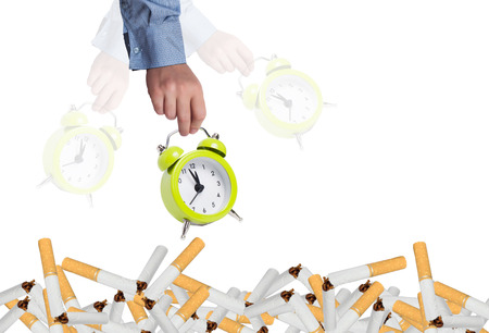 quiting: Stop smoking concept
