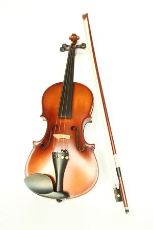 Violine mit Bogen Lizenzfreie Bilder