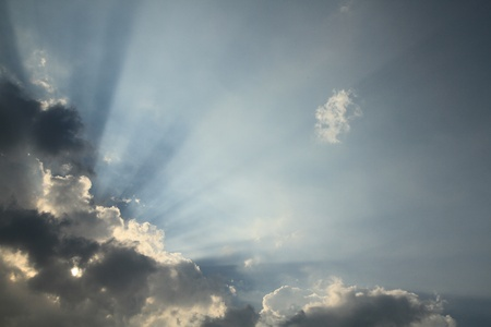Blue sky with sunbeam Stock Photo - 9386167