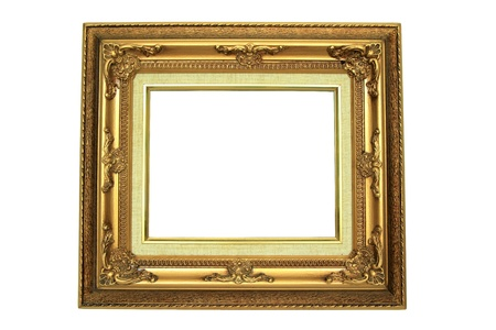 Wooden frame over white background