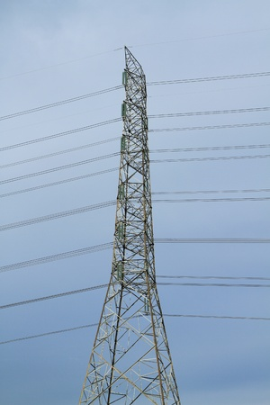 Electric high voltage power post  Stock Photo - 9778297