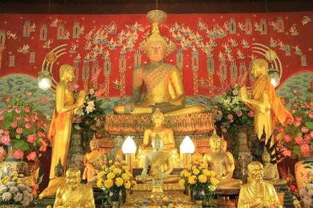 Buddha in church at Wat Yai Chaimongkol,Thailand. photo