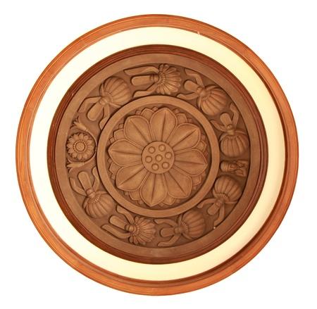 Geschnitzten Details in Lotus-Muster Lizenzfreie Bilder