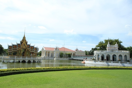 Bang Pa-In Palace Aisawan Thiphya-Art (Divine Seat of Personal Freedom) in Ayuthaya province, Thailand.