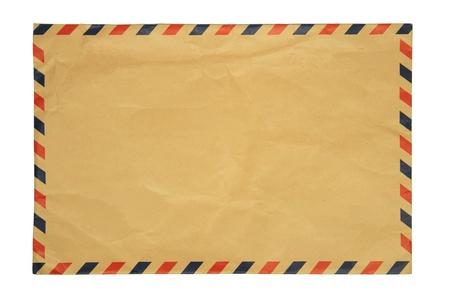 envelope with letter: Busta Vintage su sfondo bianco