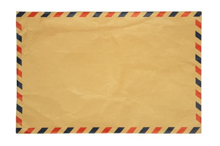 Vintage Envelope on white background