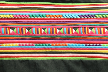 Colorful Thai style fabric pattern  photo