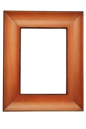 Brown picture frames isolated on white background photo