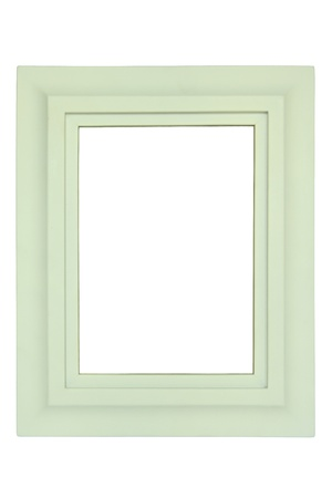 White picture frames isolated on white background