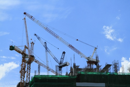 Crane and building construction  Stock Photo - 10461988