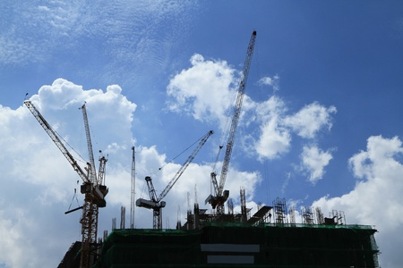 Crane and building construction Stock Photo - 10461987