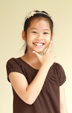Little asian girl with smiling face  photo