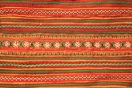 Colorful Thai style handmade fabric pattern photo