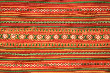 thailand fabrics: Colorful Thai style handmade fabric pattern Stock Photo