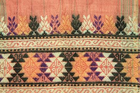 Colorful Thai style handmade fabric pattern photo