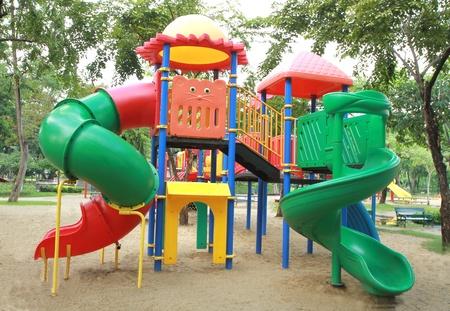 children playground: Colorful children playground in the park