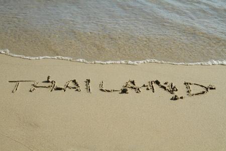 Handwritten in sand on a beach Stock Photo - 11120179