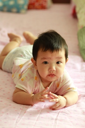 Asian baby boy  photo