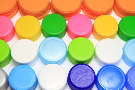 Colorful plastic lids