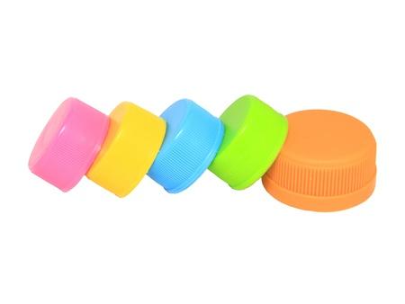 Colorful plastic lids  photo