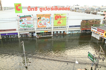 decades: BANGKOK, THAILAND - NOVEMBER 13 : Department store during the worst flooding in decades on November 13,2011 Bangkok, Thailand.  Editorial