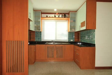 Interior of kitchen room  photo