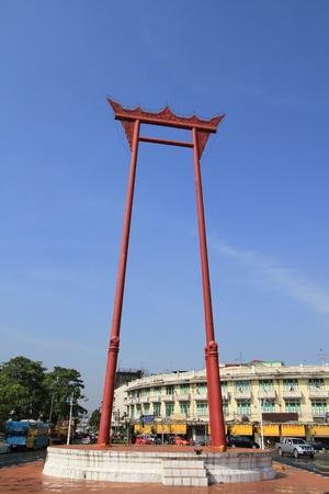 high priest: Giant Swing at Sutat Temple, Bangkok, Thailand