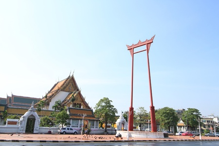 high priest: Giant Swing at Sutat Temple, Bangkok, Thailand