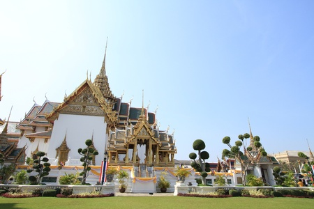 Grand Palace, the major tourism attraction in Bangkok,\ Thailand