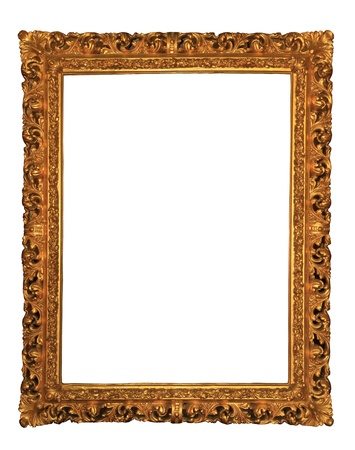 Wooden frame over white background  photo
