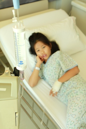 Little girl in hospital