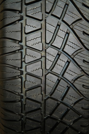 Closeup image of car tire Stock Photo