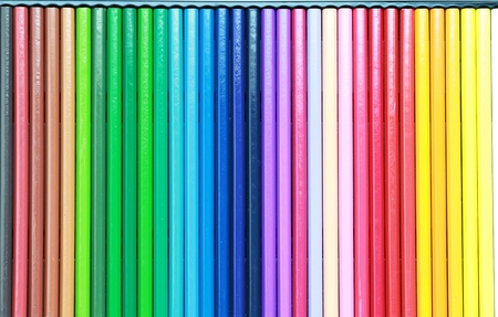 Set of color pencil isolated on white background Stock Photo - 12748790