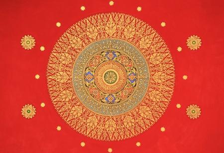 Traditionelle Thai-Stil, Malerei, Kunst in der thail�ndischen Kirche Editorial