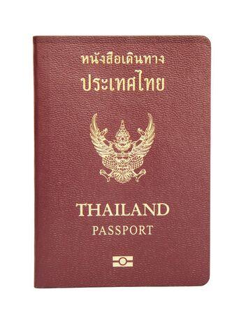 Thailand passport isolated on white background  photo