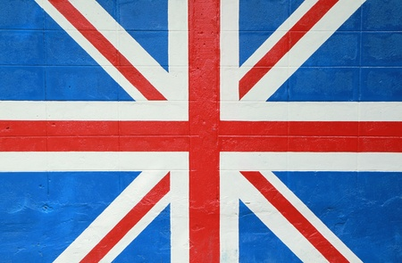 England flag from painting on the wall photo