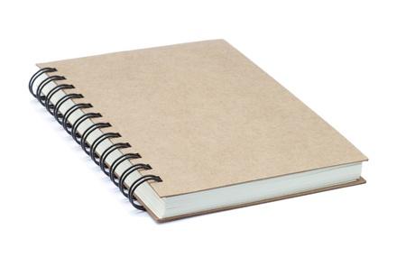 Brown Notebook isoliert auf wei�em Hintergrund
