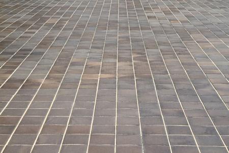 Aged stone tile floor