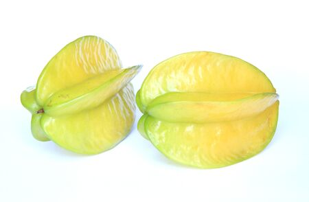 Carambola on the white background photo