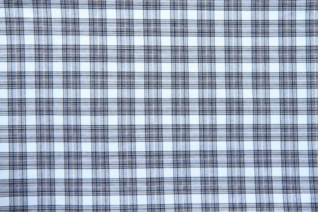 Blue checked fabric  photo