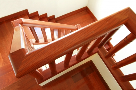 Interior - Wooden stairs and handrail