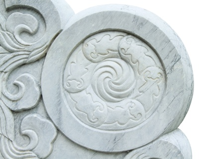 Carved marble in lotus form photo