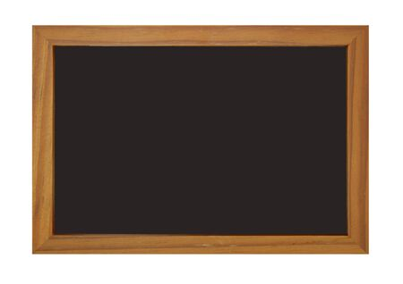 Blackboard with brown edge photo