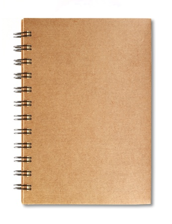 Brown notebook isolated on white background  Stock Photo - 15008854
