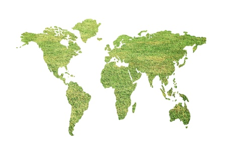 Green global map photo