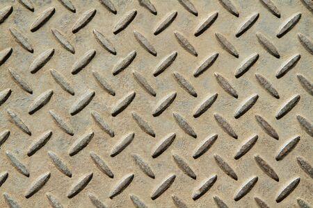 Background of metal diamond plate  Stock Photo - 15009044