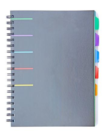 Black index notebook isolated on white background Stock Photo - 15008823