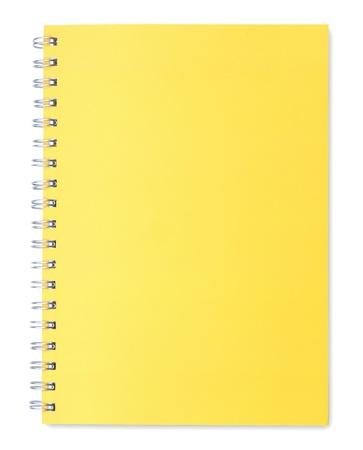 Yellow Notebook isoliert auf wei�em Hintergrund
