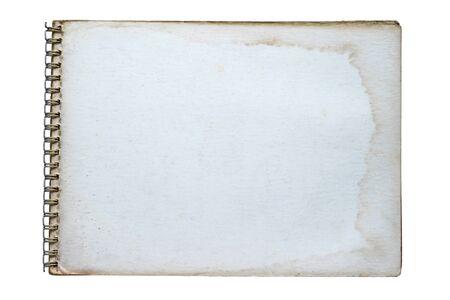 Grunge notebook isolated on white background